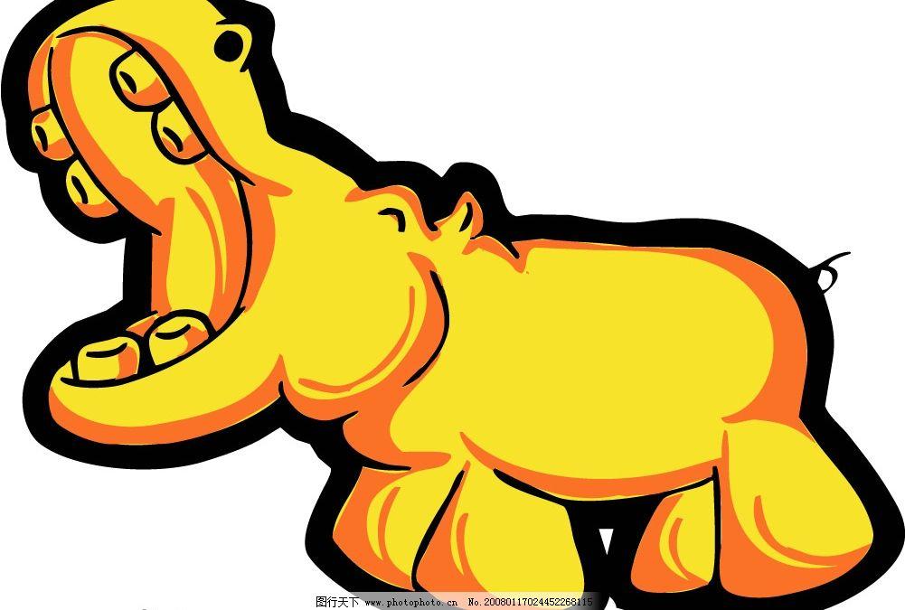pop插图132 卡通 犀牛
