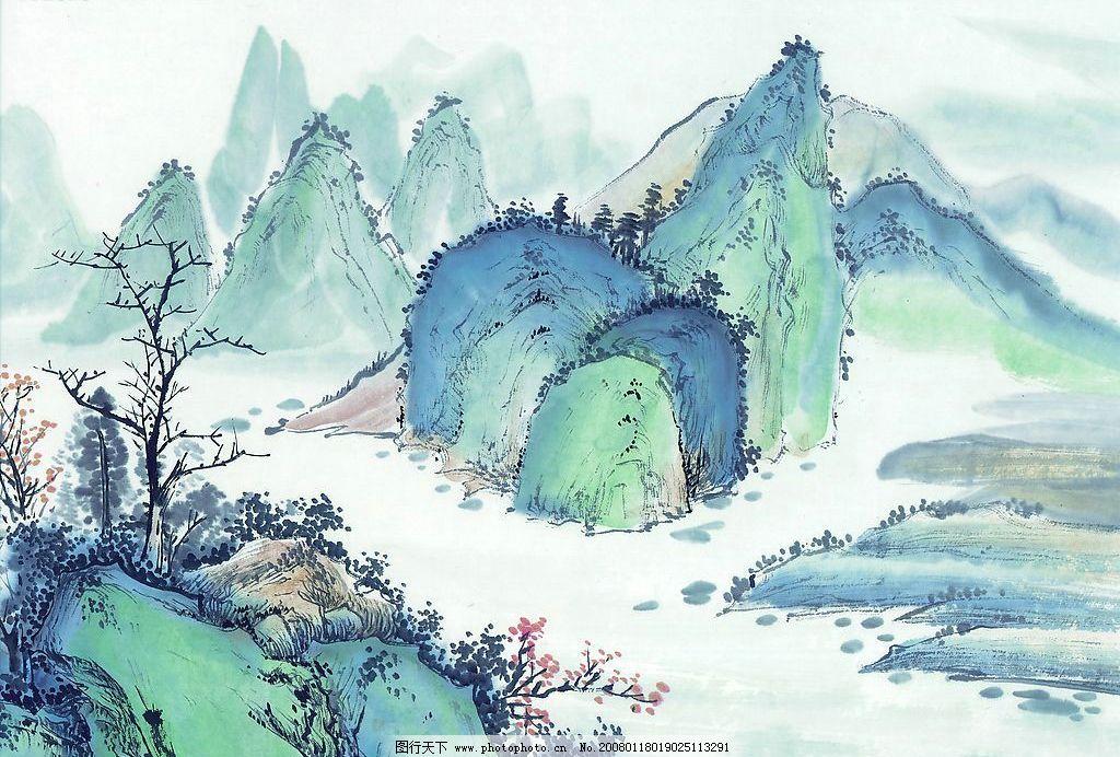 国画素材 古代 国画 素材 山水画 山水 山 水 古图 文化艺术 美术绘画