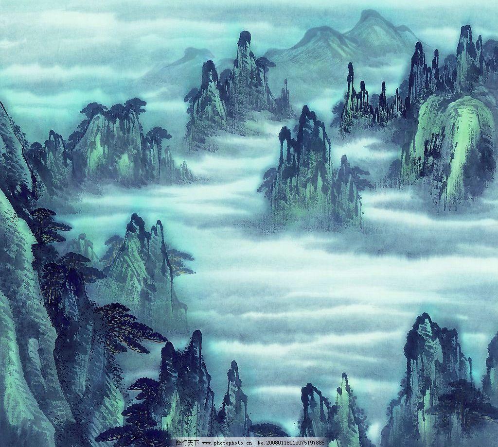国画素材 古代 山水画 古图 美术绘画 摄影图库