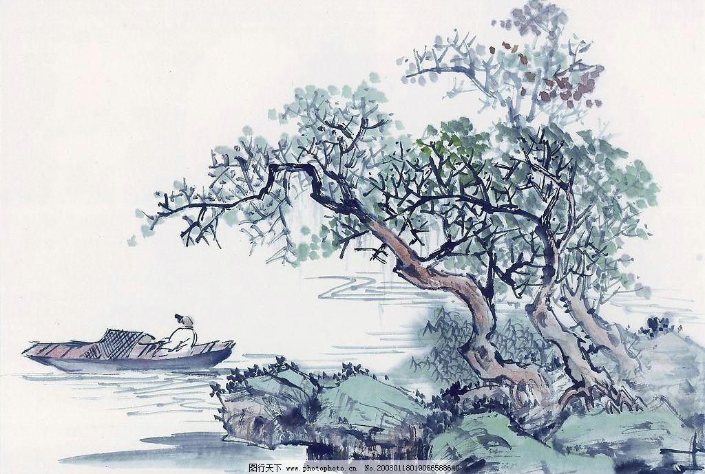 山水国画 山水 国画 文化艺术 绘画书法 设计图库 72 jpg