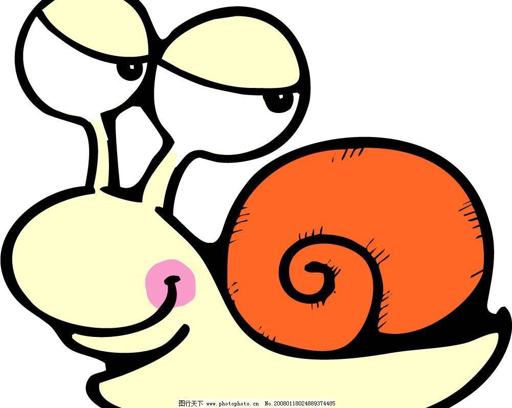 pop插图152 卡通 蜗牛 生物世界 昆虫 矢量图库   cdr