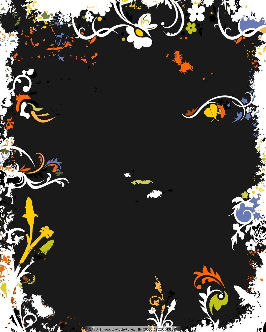 手机黑色复古花纹壁纸