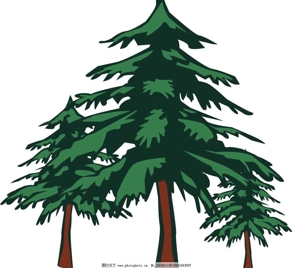 三棵树 其他矢量 矢量素材 矢量图库   ai