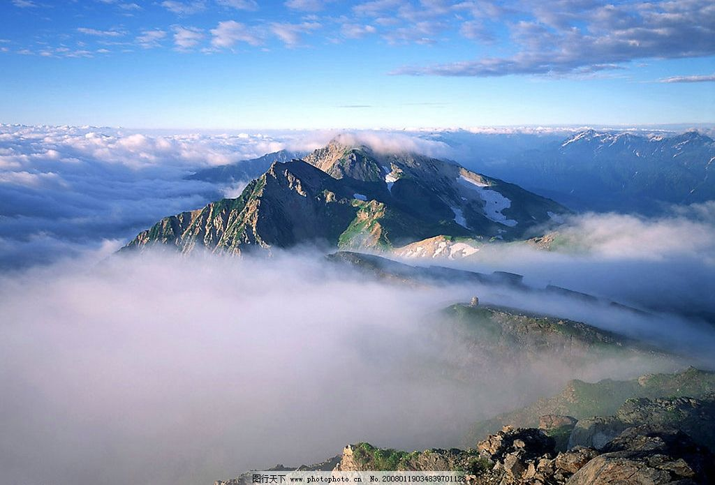 仙境 山峰 云雾 自然景观 自然风景 摄影图库 300 jpg