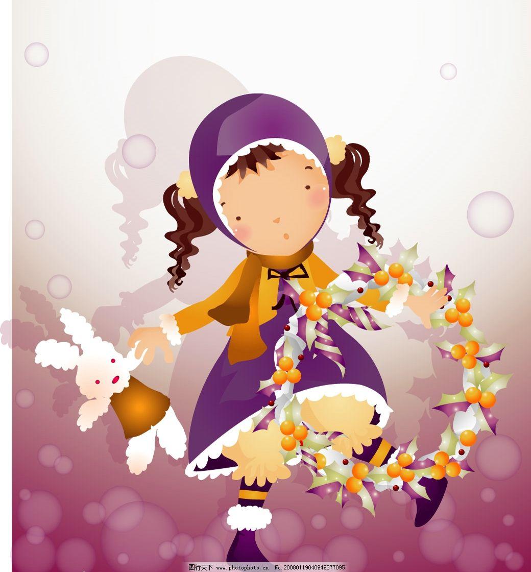 韩国卡通儿童女孩图片
