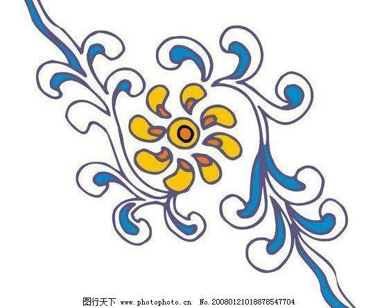 中国传统花纹矢量图100图片