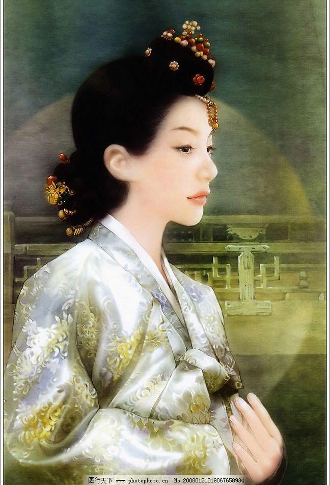 古装美女绘画 彩绘 绘画 手绘 美女 古典 古装 美人 人物绘画 人物