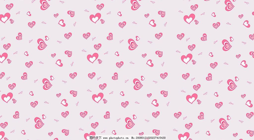 平铺背景系列 心 可爱 粉色 底纹边框 背景底纹 设计图库 72 jpg