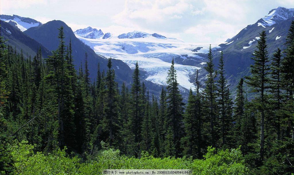 自然风景 蓝天绿地,晚霞,山林 自然景观 自然写真 摄影图库   jpg