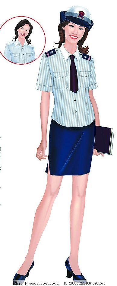 制服 人物 服装 人体 工作服 模特 平面设计 动漫卡通 平面设计作品