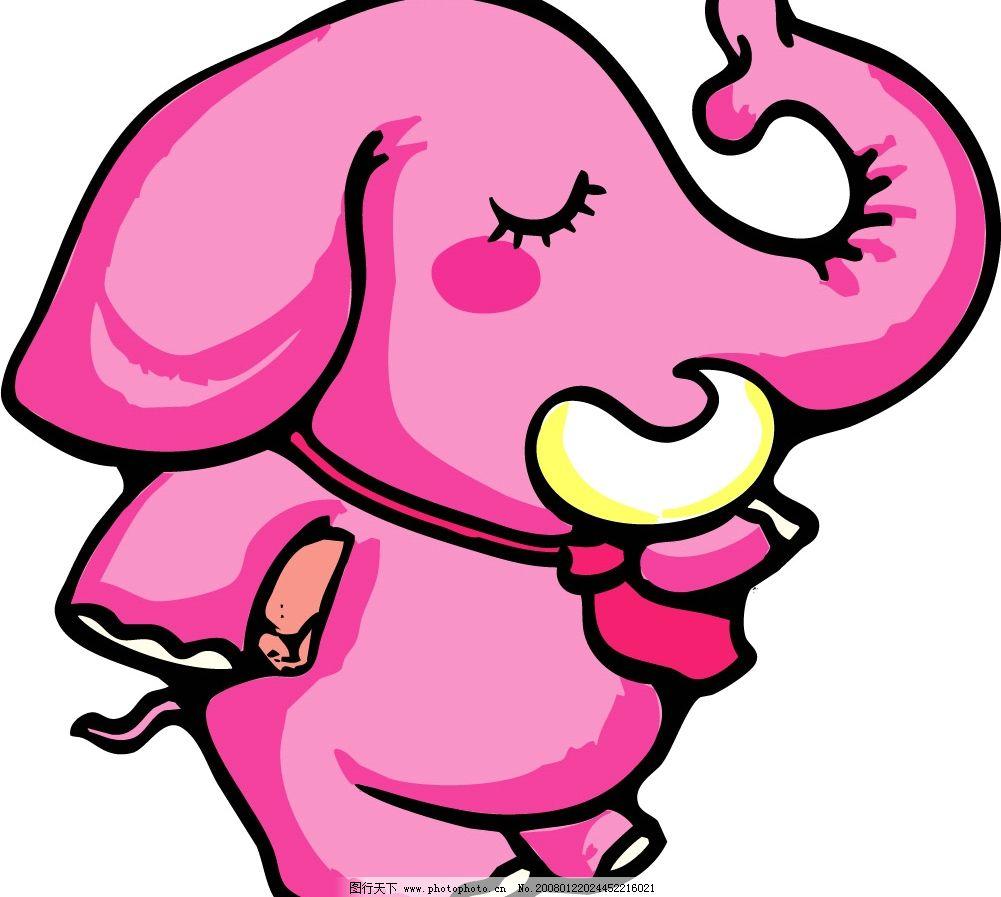pop插图192 卡通 大象 生物世界 野生动物 矢量图库   cdr