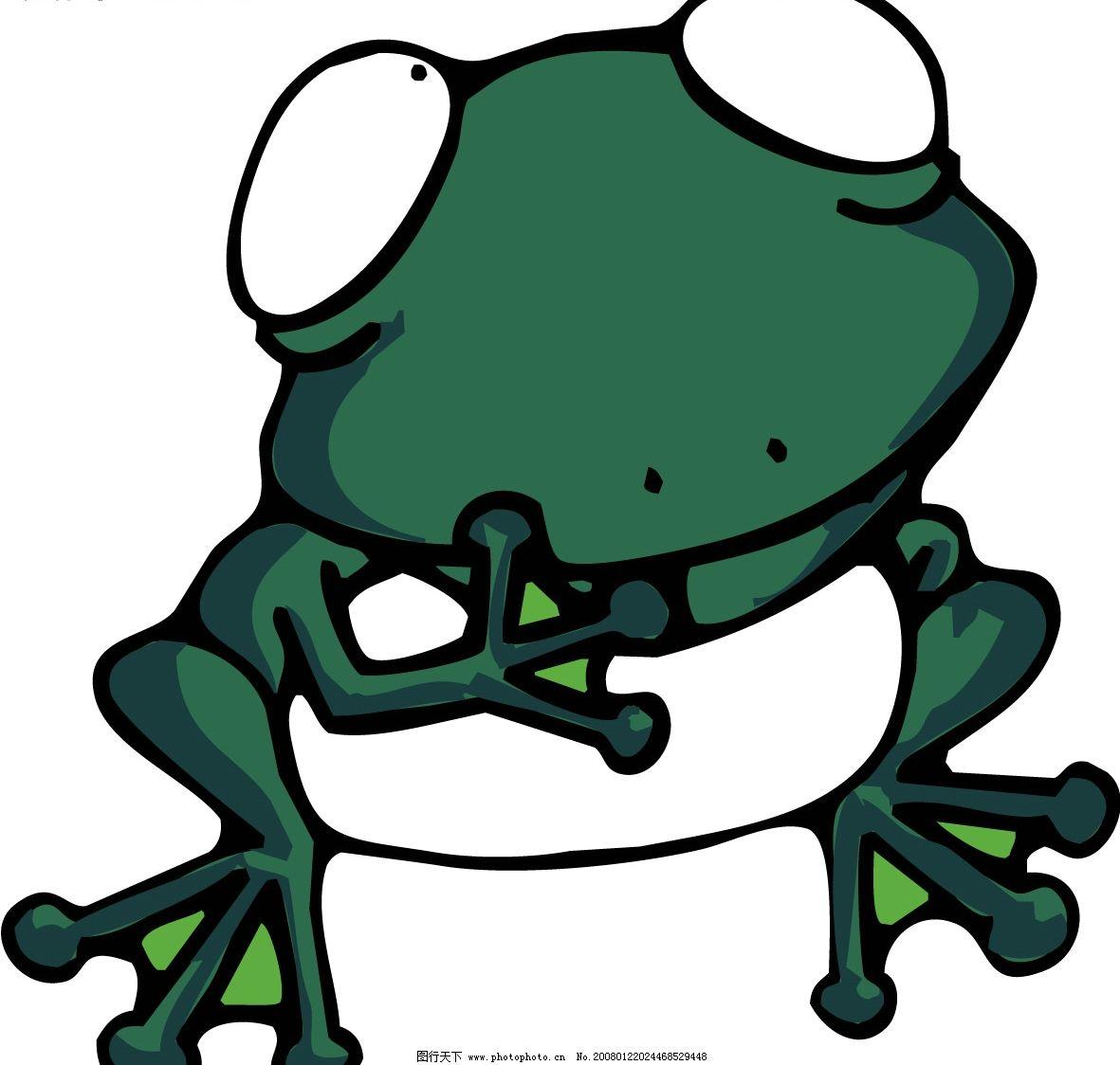 pop插图179 卡通 青蛙 矢量图库