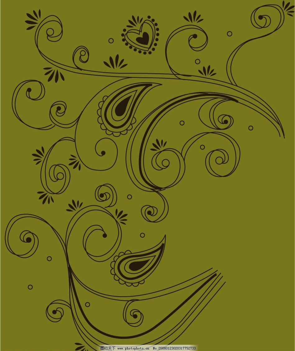 时尚花卉图案 花卉 时尚 潮流 图案 矢量 底纹边框 花纹花边 矢量图库