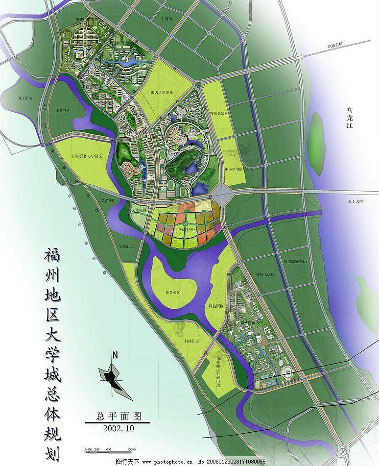 福州地区大学城 福州 大学城 环境设计 景观设计 设计图库 72 jpg