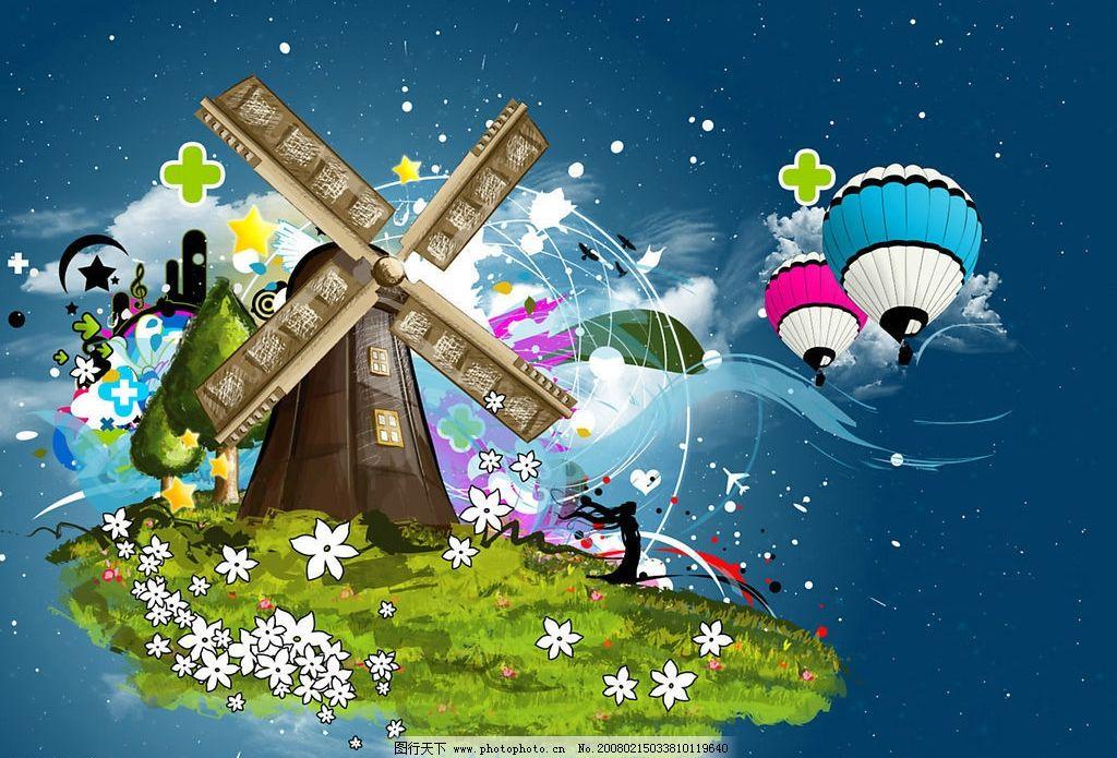 梦幻仙境 时尚 另类 升空气球