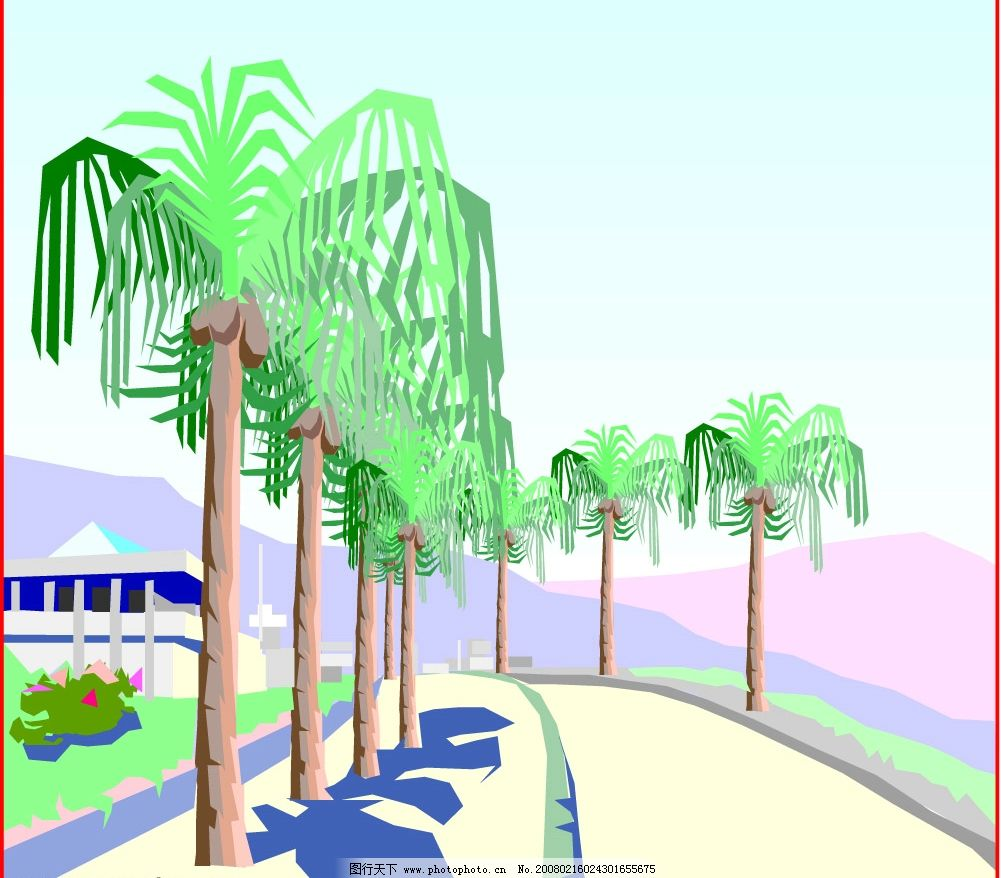 风景 自然风光 自然景观 其他 矢量图库   wmf