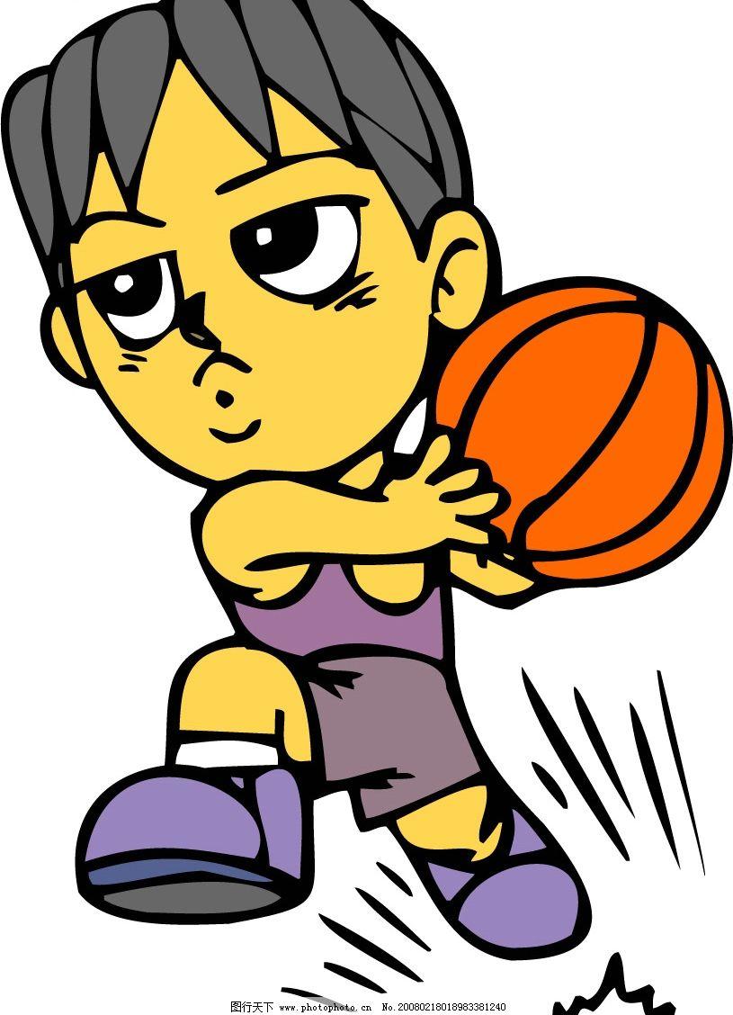 卡通nba4 篮球动作 文化艺术 体育运动 卡通矢量 矢量图库   ai