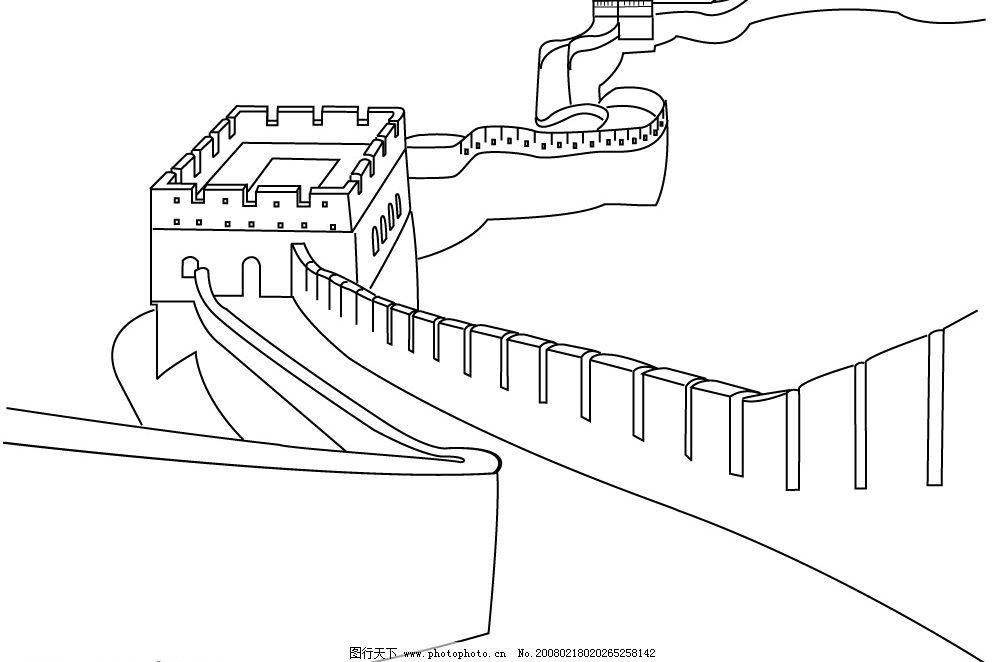 长城矢量图 很精细的哦 底纹边框 底纹背景 矢量图库   cdr