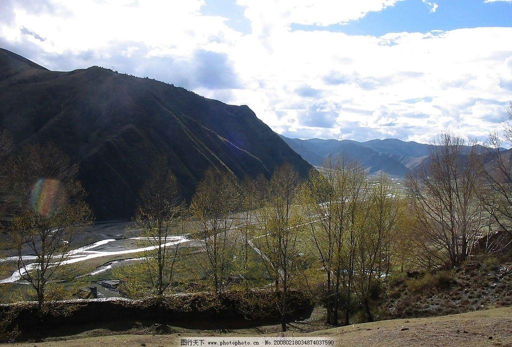 新都桥风景 自然景观 自然风景 自然风光 摄影图库