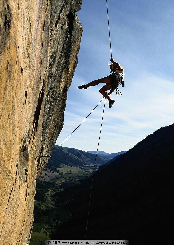 运动中的人 极限 挑战 攀岩 摄影图库