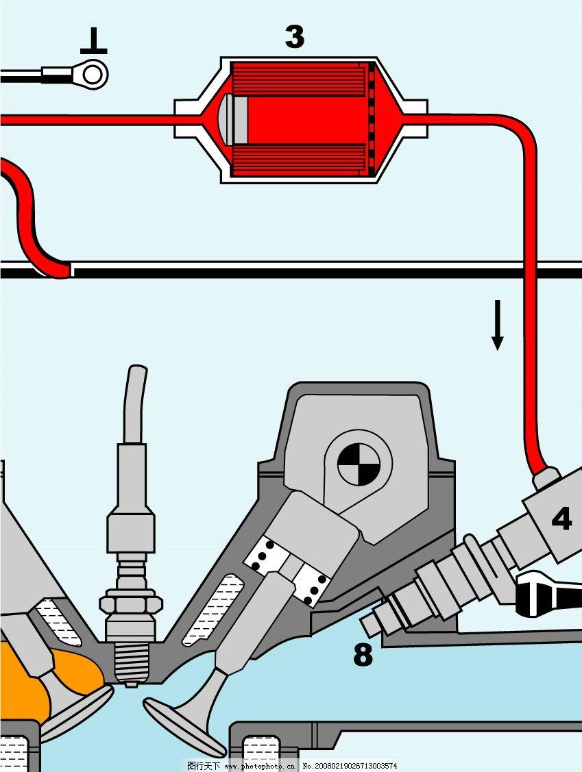 汽车发动机结构图图片