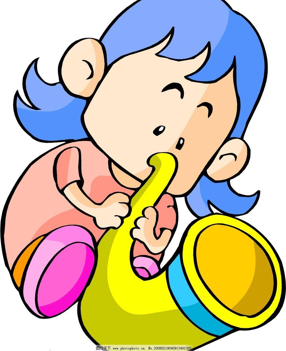可爱的卡通图 矢量人物 儿童幼儿 矢量图库   wmf