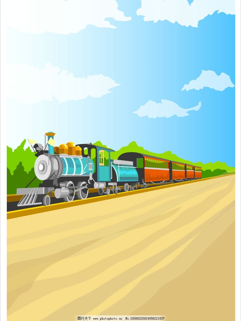 火车 风景 冬天 休息 野炊 ai风景 自然景观 山水风景 矢量图 矢量