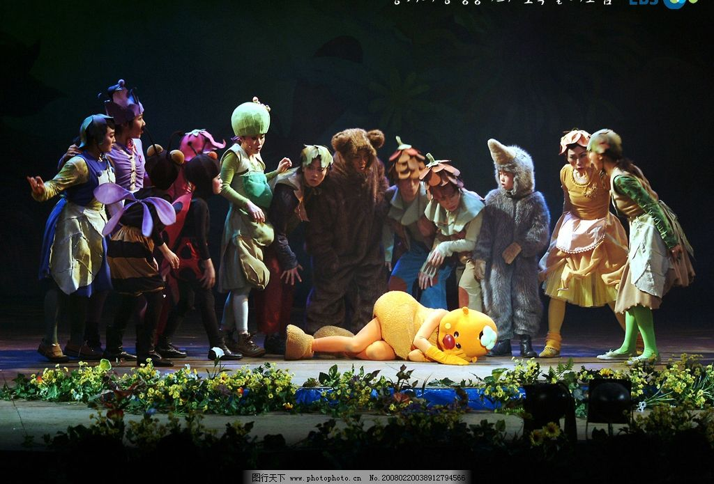 韩国儿童舞台剧 儿童 文化艺术 舞蹈音乐 儿童舞台剧 摄影图库 72 jpg