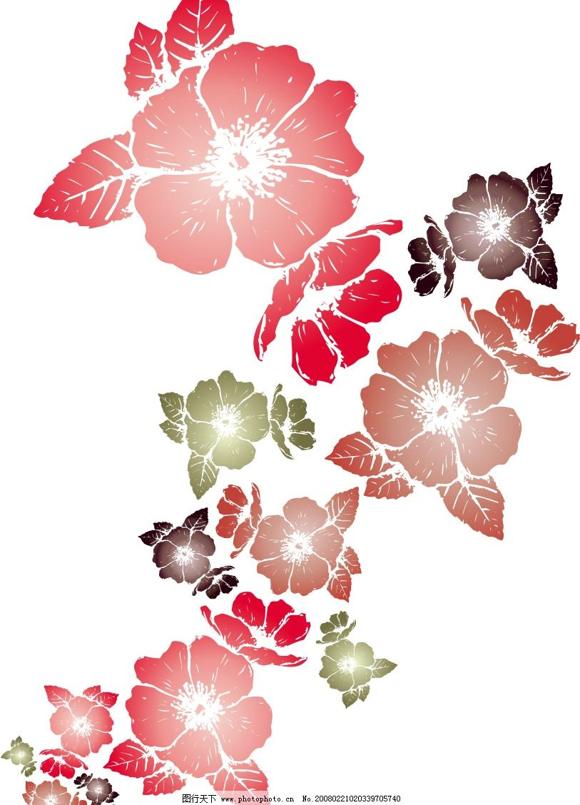 花朵矢量图 花 矢量 底纹边框 花纹花边 矢量图库   ai