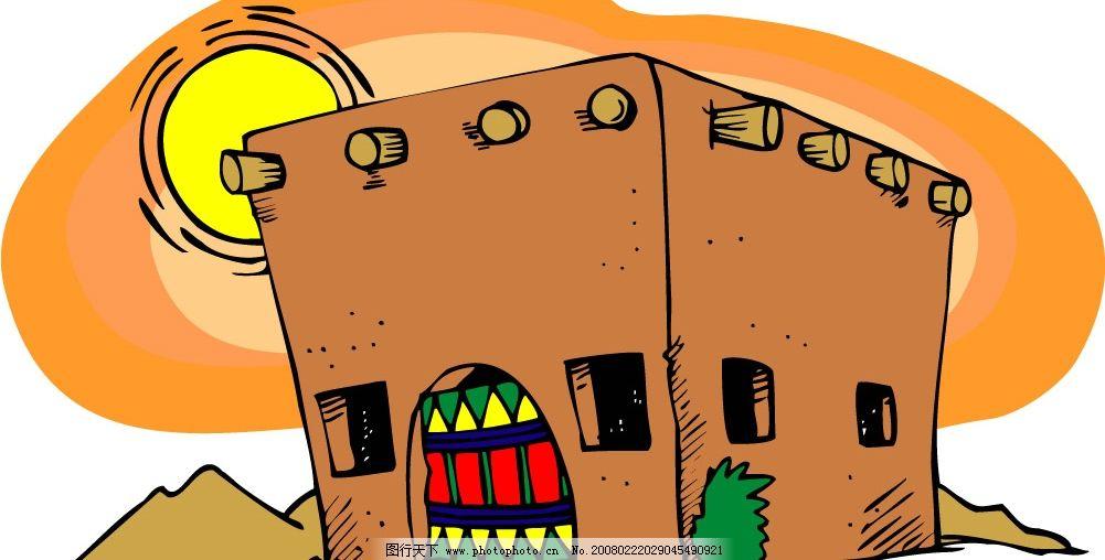 卡通城堡图片