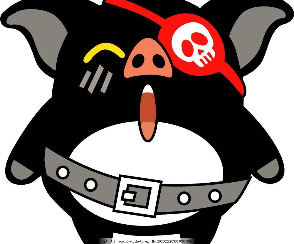 海盗猪 十二生肖 动物 其他矢量 矢量素材 矢量图库