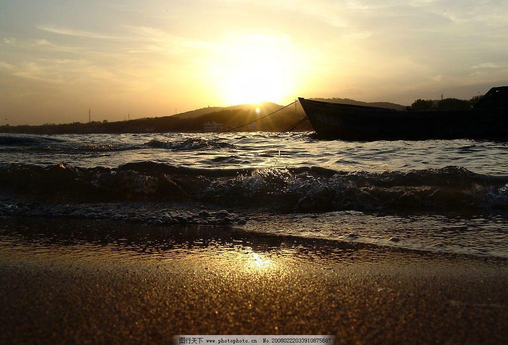北戴河 日落 海边 黄昏 沙滩 旅游摄影 国内旅游 自拍风景 摄影图库