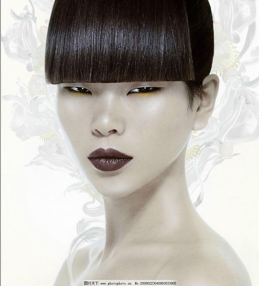 完美妆容 气质 烟熏 诱惑 化妆 美女 舞台 写真 脸部 其他 图片素材