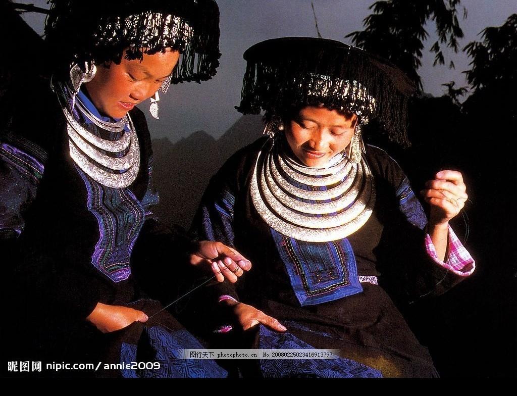 风情人物 苗族 衣服 人物摄影 中国风情 摄影图库