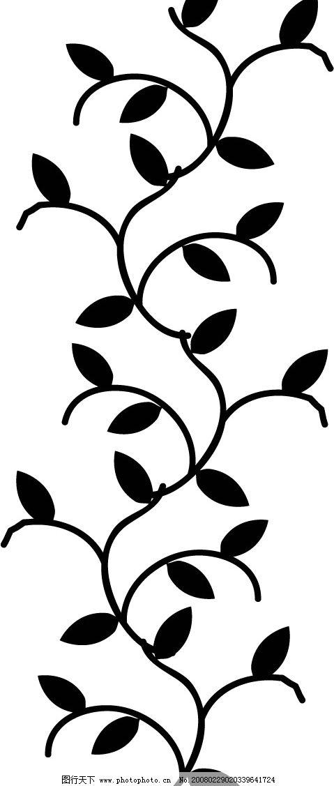 枝叶花边 枝叶藤蔓 底纹边框 花纹花边 矢量图库   eps