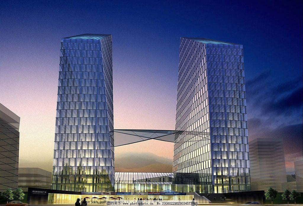 现代建筑 环境设计   建筑设计 数码广场 建筑效果图 设计图库 120