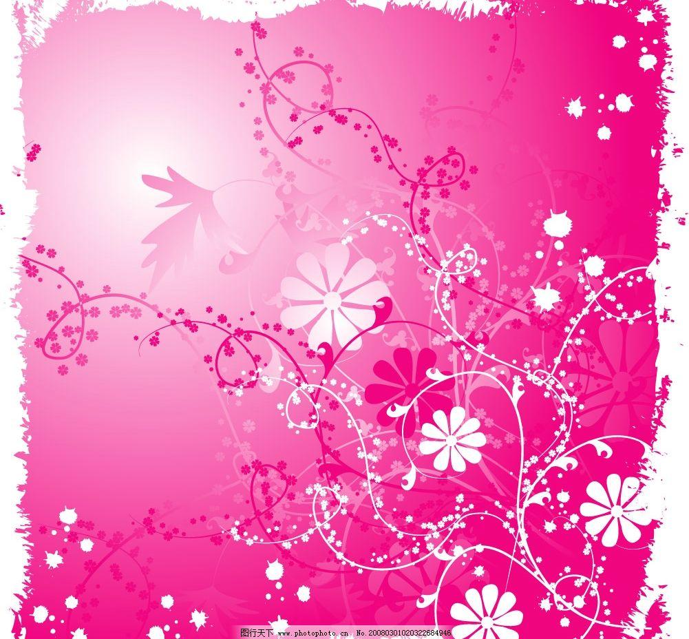 粉色花纹图片