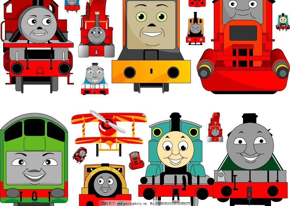 卡通火车头图片