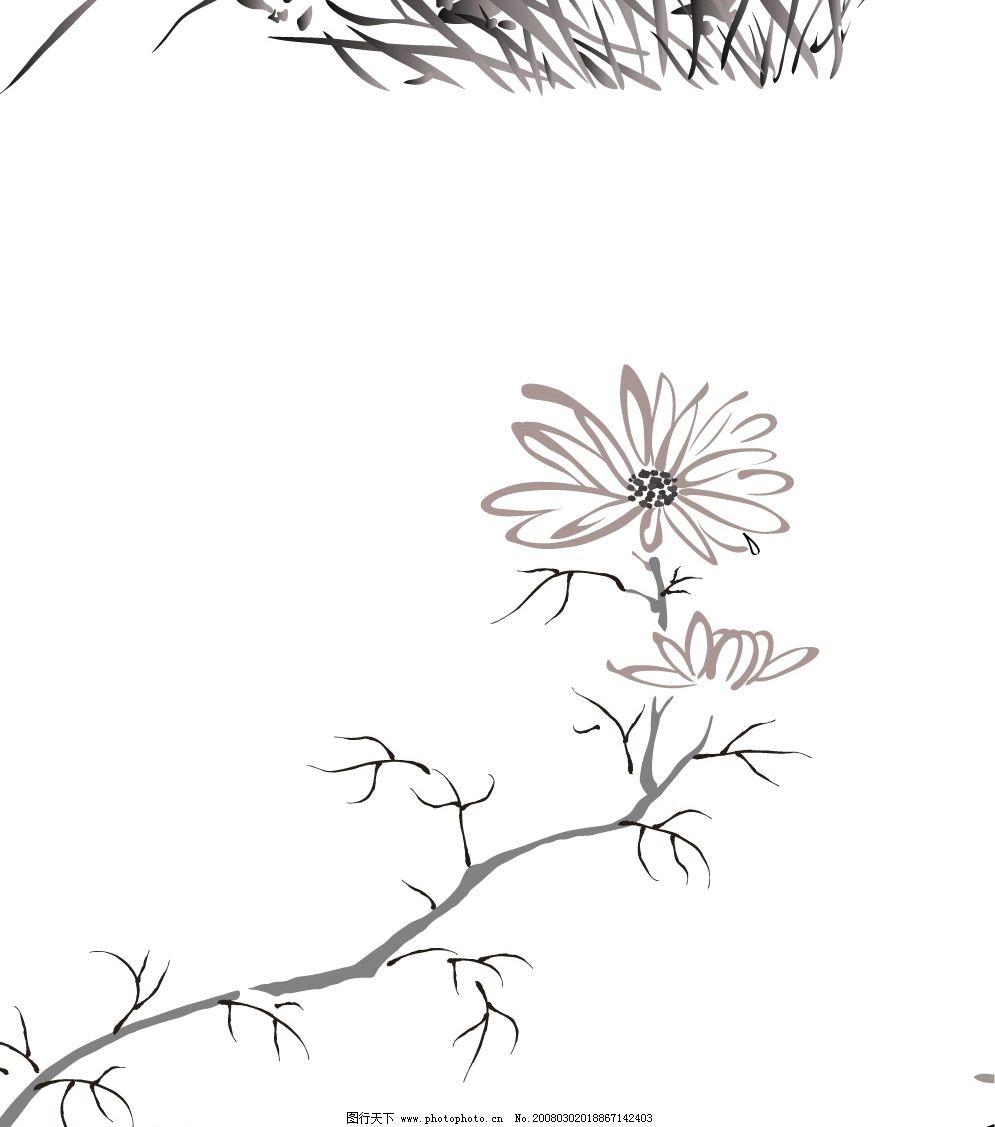 水墨植物图片