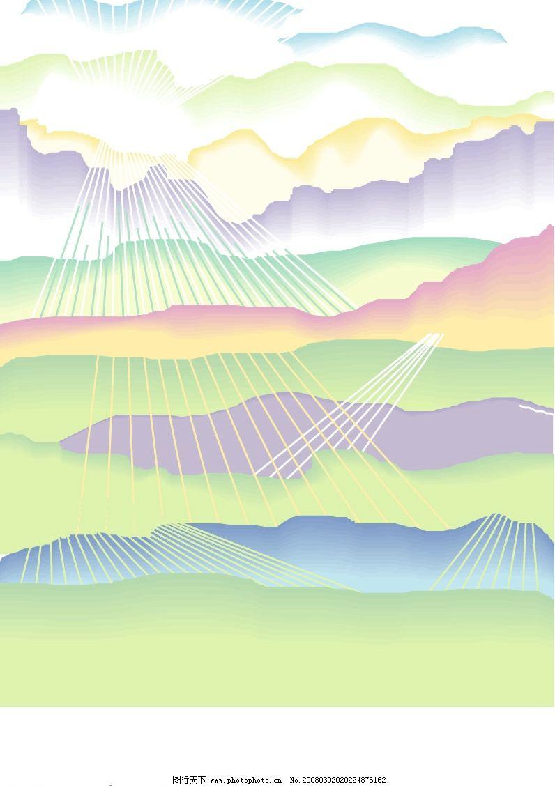 矢量背景 背景色彩明快活泼有层次感和美感 底纹边框 底纹背景 矢量图