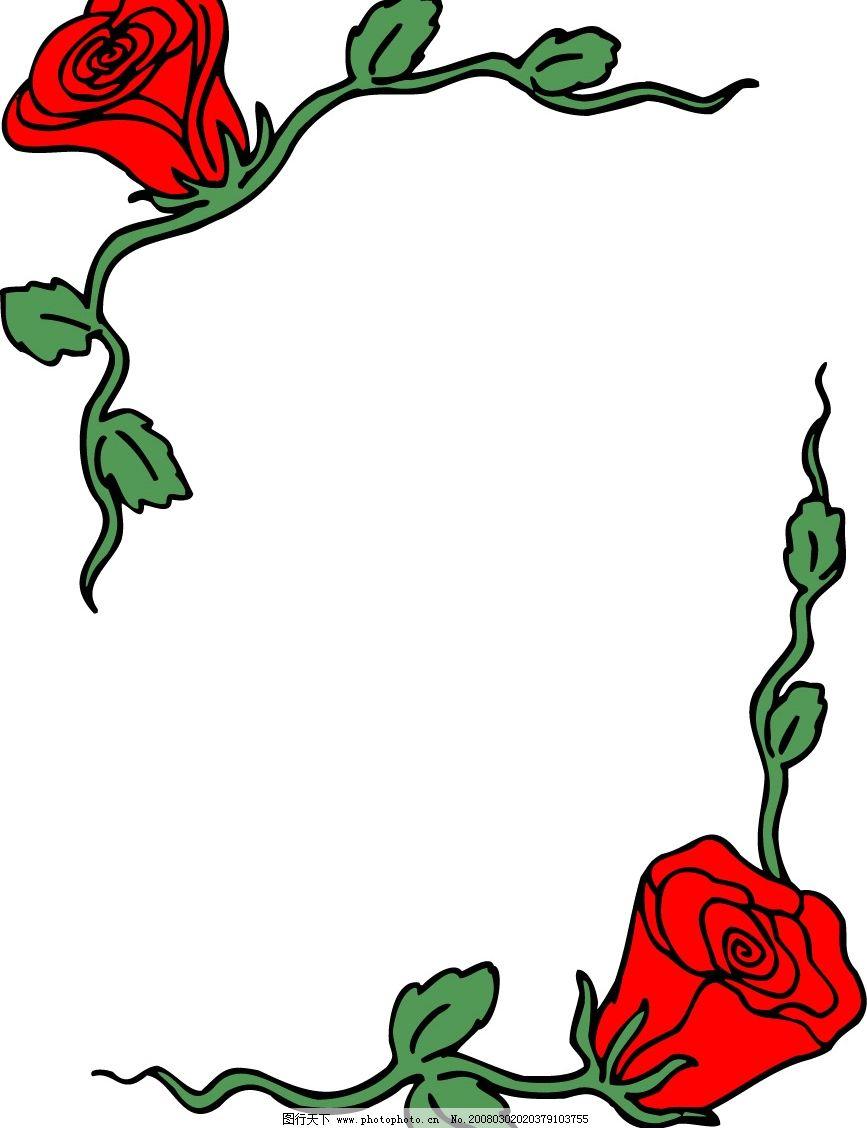 花边 底纹边框 花纹花边 花 矢量图库   eps