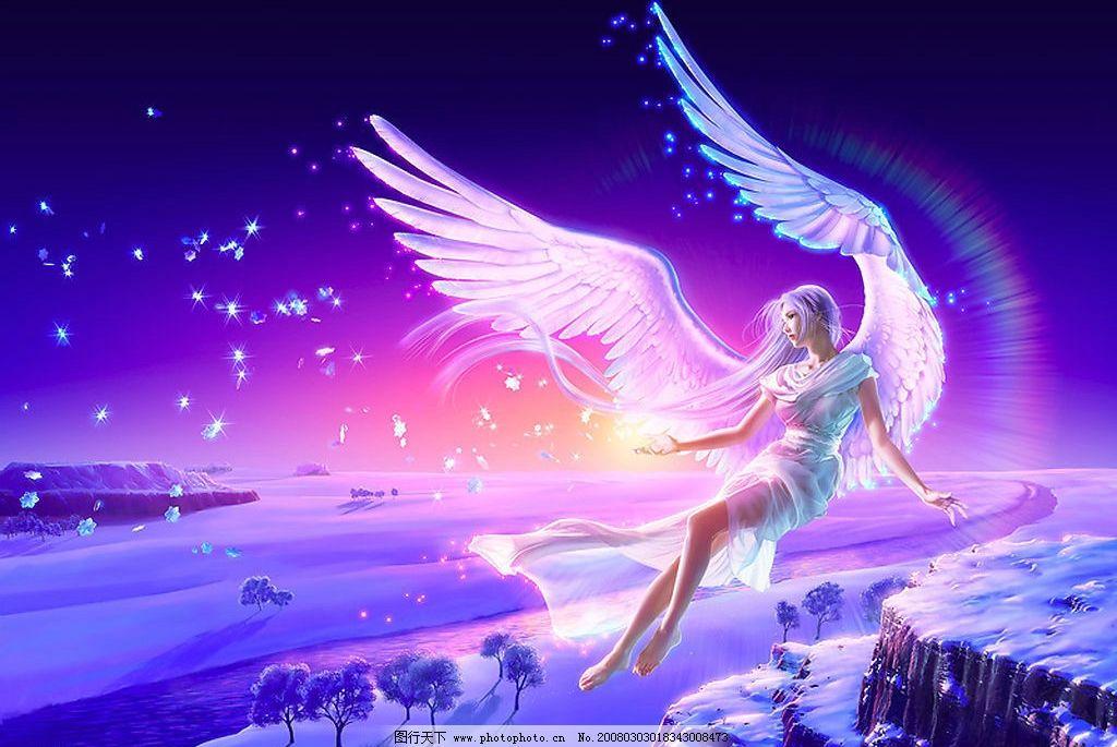 隐形的翅膀 美女 飞翔 雪地 树林 动漫动画 动漫人物 设计图库 300