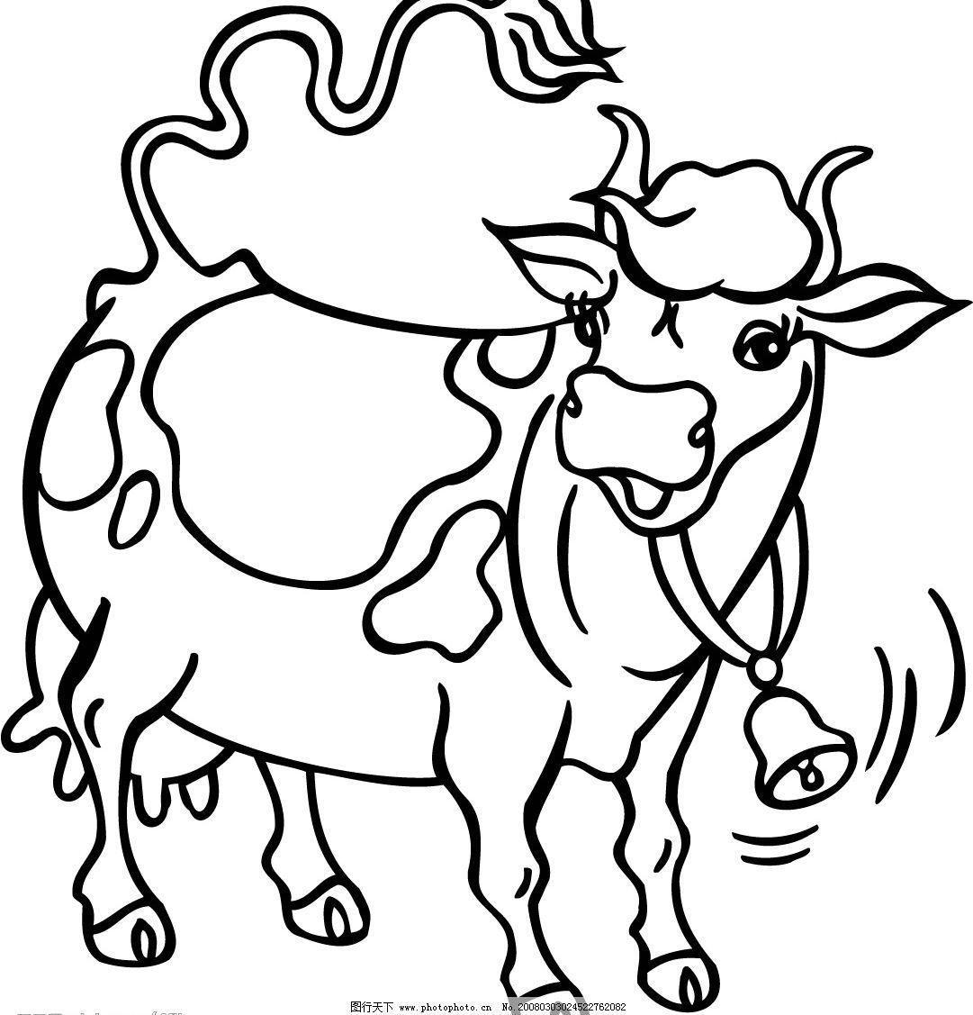 俄罗斯矢量图-牛2图片