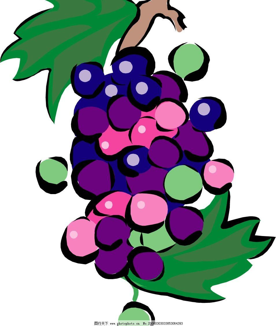 葡萄 水果 其他矢量 矢量素材 蔬菜水果 矢量图库   eps