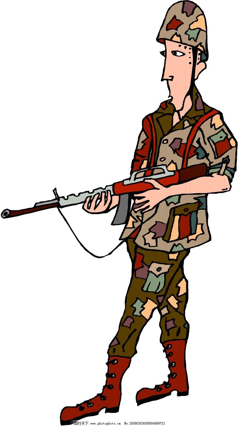 手绘现代军人图片大全