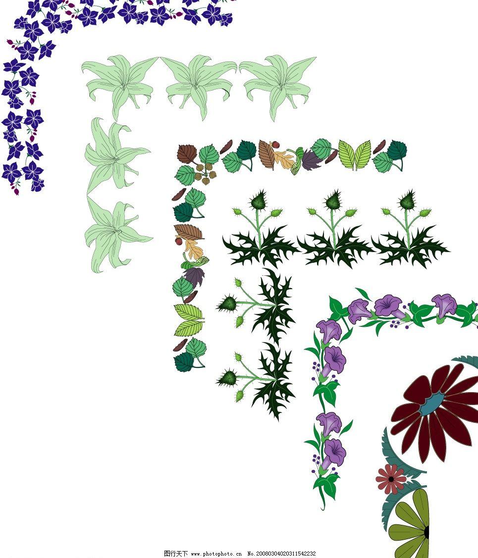 花花边 花朵接的花边 底纹边框 花纹花边 矢量图库   cdr