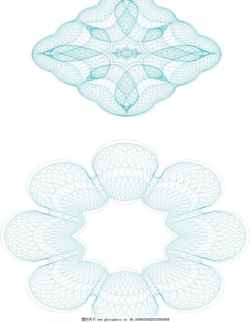 团花 矢量 团化 超线 底纹边框 花纹花边 矢量图库   ai