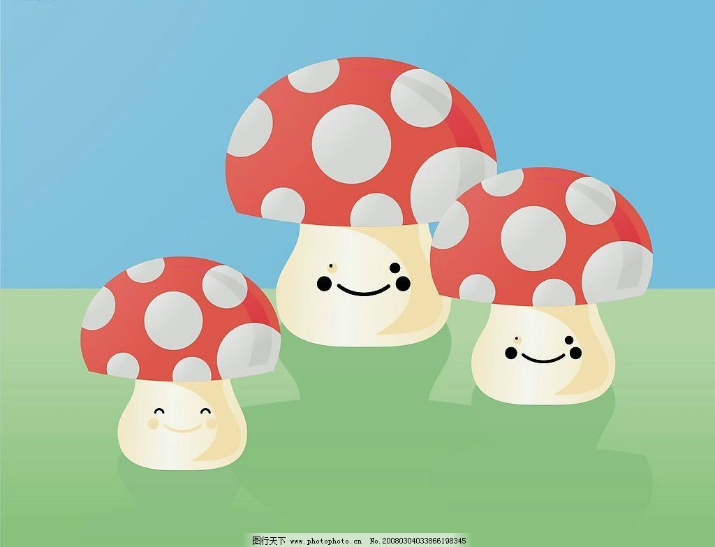可爱的卡通蘑菇人图片