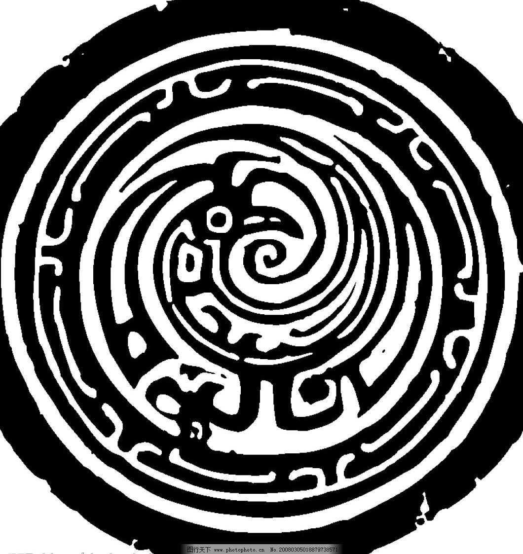 原始图案 吉祥 中国 底纹 中国吉祥图案 矢量图库