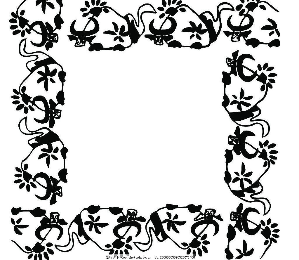 线条边框组合素材